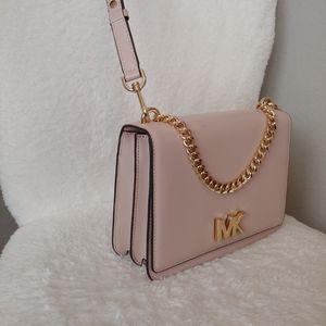 Michael Kors Mott Chain Swag Shoulder Bag, Pink
